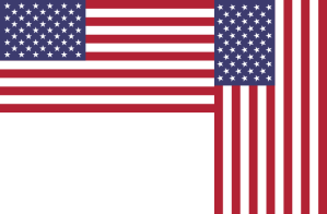 Horizontal and vertical flags.